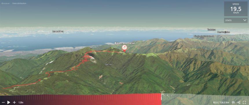 石鎚山サイクリング